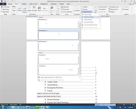 cara membuat nomor halaman dari romawi ke angka pustaka iptekkes cara mengatur nomor halaman dengan
