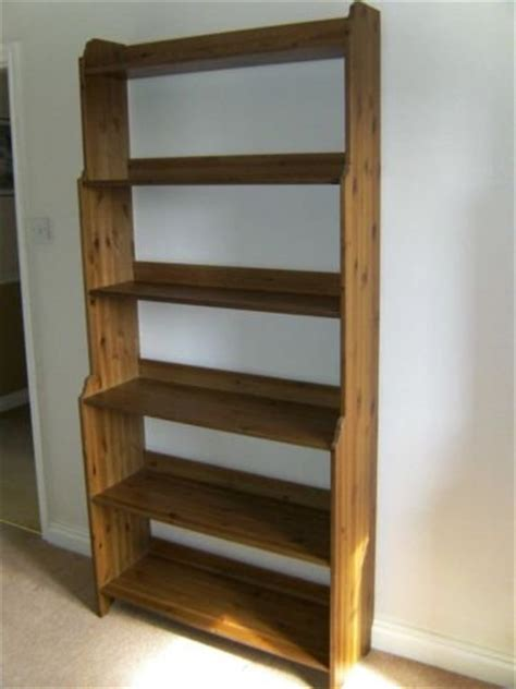 ikea leksvik antique wood bookcase a condition in crown