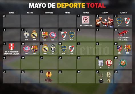 Calendario Deportivo 2015 Calendario Deportivo De Mayo 2015 Lo Que No Te Puedes