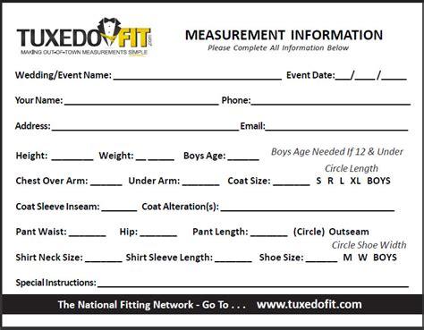measurement form   Rose Tuxedo: Wedding Tuxedo Quince