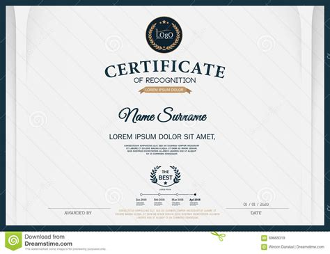 certificate template size certificate of recognition frame design template layout