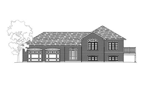 side split house plans side split building plans drafting innovations drafting house plans in peterborough omemee