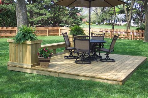 Backyard Deck Ideas Ground Level Ground Level Deck Plans Home Design Architecture