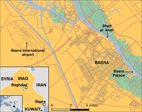 basra map iraq news middle east uk basra base exit not a defeat