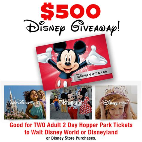 Disneyland Giveaway Tickets - magical disney park tickets 500 giveaway closed tip junkie
