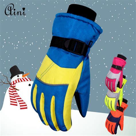 Ski Gloves Winter Gloves Sarung Tangan Musim Dingin Salju Varian Black anak musim dingin sarung tangan promotion shop for
