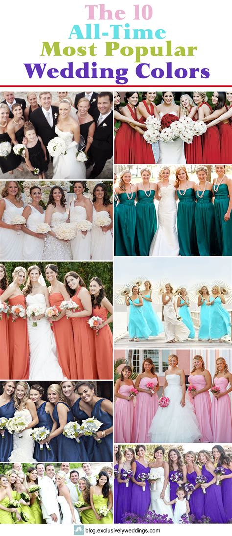 popular wedding colors the 10 all time most popular wedding colors exclusively