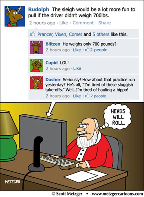 santa on facebook cartoon it s a greeting card too