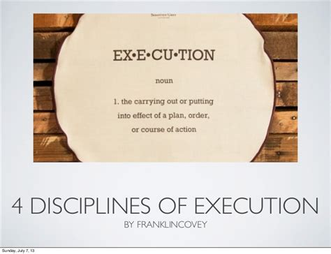 4 disciplines of execution my notes on 4 disciplines of execution by franklin covey