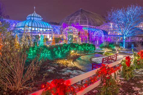 light show christmas lights winter get illuminated at the winter light garden and flower show
