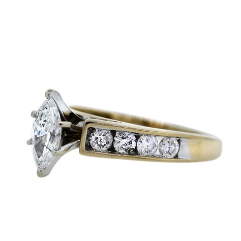 14k yellow gold 0 70ct marquise cut engagement