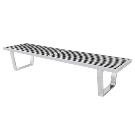 stainless steel bench george nelson mid century platform bench in stainless