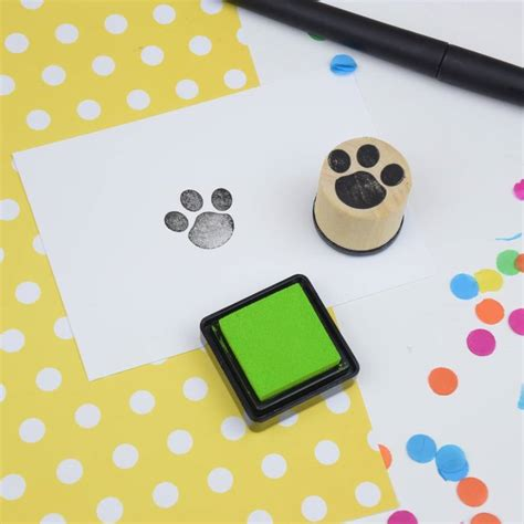 rubber st print paw print rubber st by the serious st company