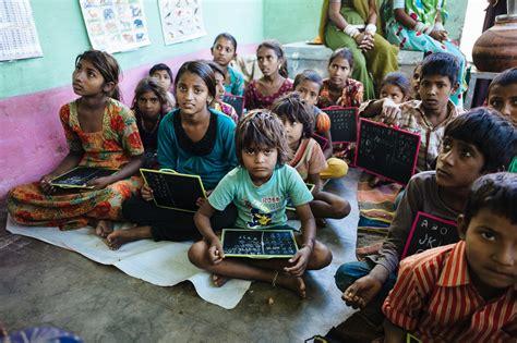 children in indian school provide school material to 50 poor children globalgiving Poor