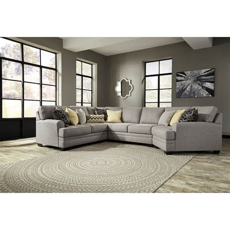 sectional sofa with cuddler benchcraft cresson contemporary 4 sectional with