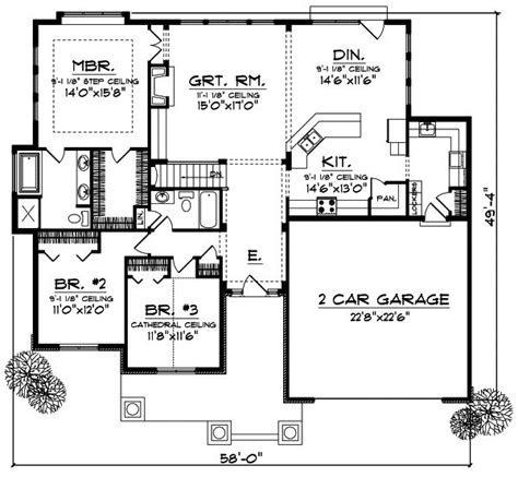 craftsman style open floor plans craftsman style house plans 1844 square foot home 1