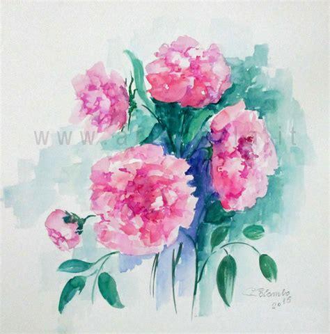 fiori ad acquerello artecarlacolombo fiori fiori fiori ad acquarello calle