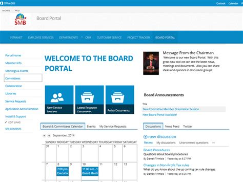 sharepoint hr template board portal template for office 365 sharepoint new site