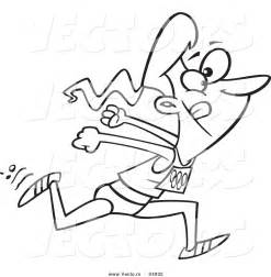 Of A Cartoon Track And Field Woman Sprinting Outlined Coloring Page sketch template