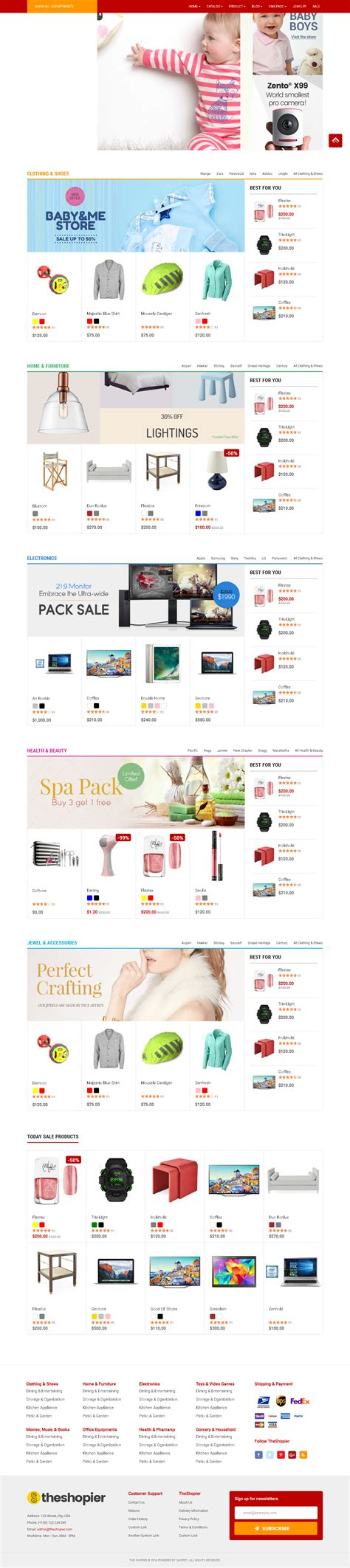 ishop multi purpose shopify theme junothemes top 5 shopify themes for book store