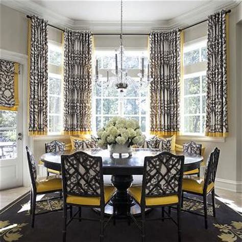 window treatments for bay windows in dining room other nice dining room bay window treatments throughout