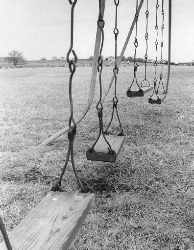 swing past old playground swings my elementary school in the 1950s