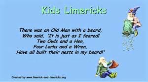 kids limericks exle limerick poems youtube