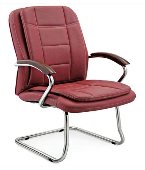 Maroon Office Chair by Arushi Maroon Solid Office Chair Buy Rs 8550