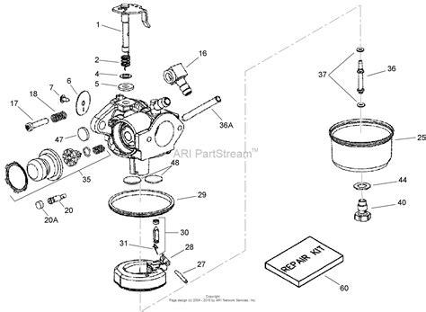 toro 20072 22in recycler lawn mower 2007 sn 270000001 270999999 parts diagram for carburetor