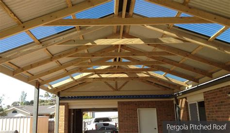 Leisure Timber Hardware Lilydale How To Build A Pitched Roof Pergola