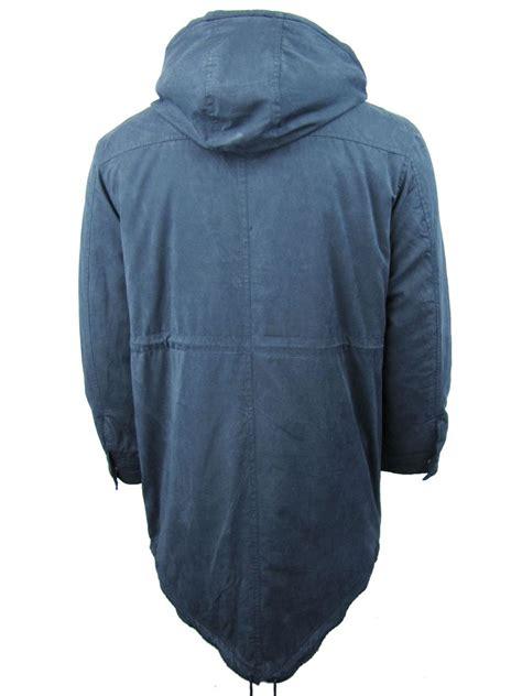 Longcoat Finny Navy Jaket Sweater 0109 mens merc fishtail parka m51 style jacket coat tobias combat green ebay