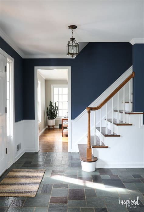 newly painted entryway color farrow