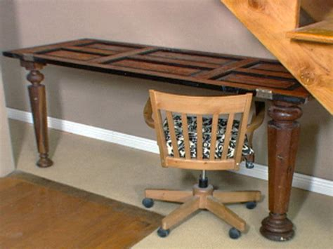 Out Of Desk by How To A Desk Out Of An Antique Door Hgtv