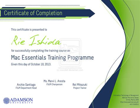 design a certificate of completion 8 best images of create free certificate completion free