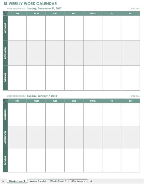 weekly meeting calendar template free excel calendar templates