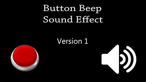 button beep sound effect button beep sound effect version 1 hq sounds youtube