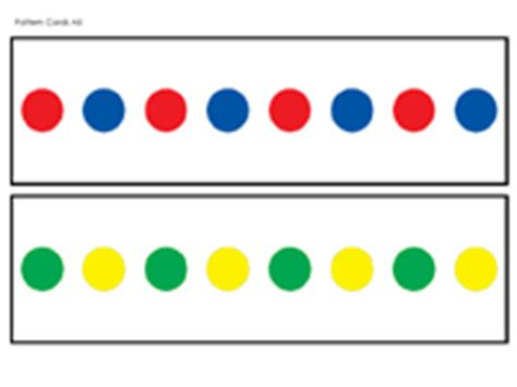 color pattern aabb color pattern cards prekinders