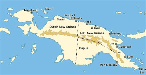 new guinea map map of papua new guinea