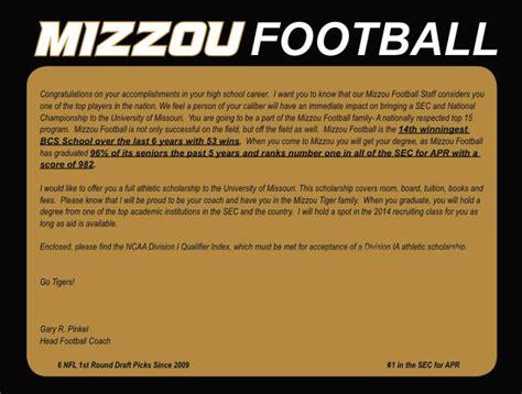 football cover letter sle offer letter from mizzou football gary pinkel
