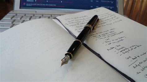 pen and paper writing into the fledgling