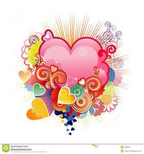 love heart valentine s or wedding vector royalty free