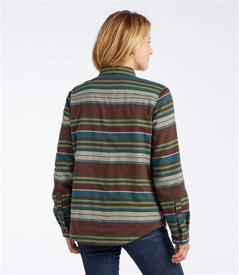 Fleece Lined Striped Shirt s fleece lined flannel shirt snap front stripe