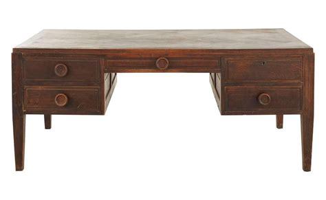 vintage wood partners desk at 1stdibs