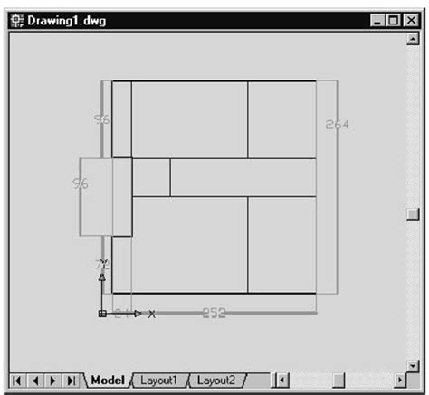 floor plan objects floor plan objects floor plan with collecting objects into layers grouping objects autocad