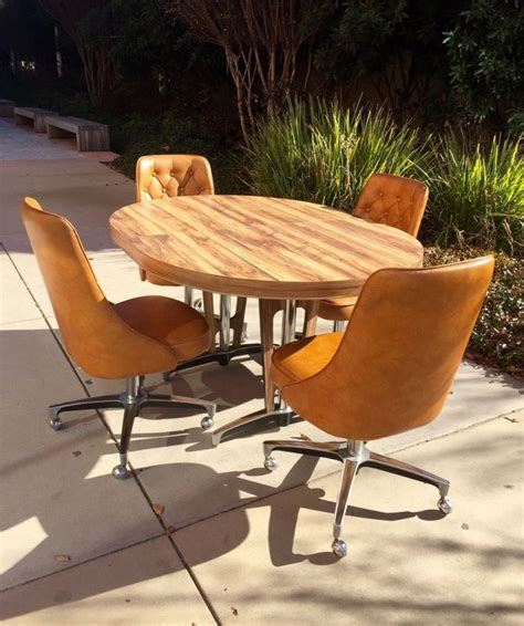 mid century kitchen table and chairs 1960s atomic mid century modern chromcraft kitchen table