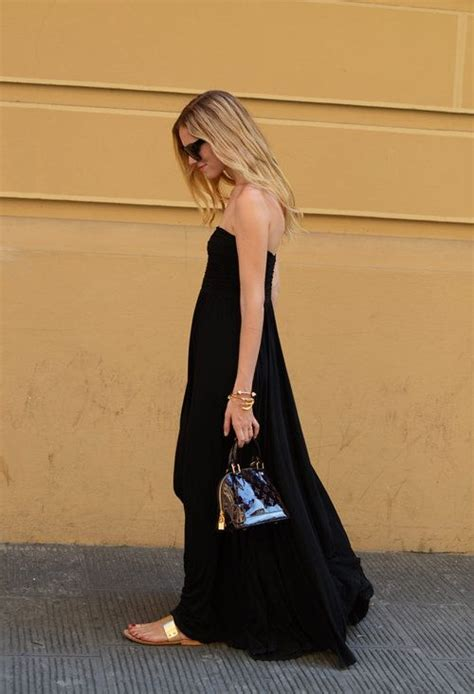 Lv New Maxi black dress louis vuitton in bags looks