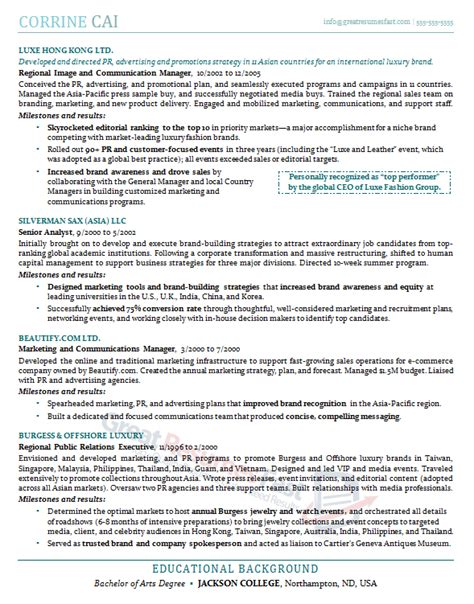 Great Management Resumes by Executive Resume Sles Professional Resume Sles