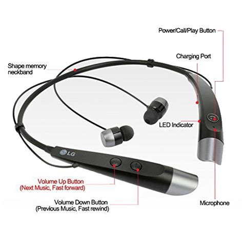 Headset Bluetooth Bt 500 lg hbs 500 tone plus bluetooth stereo headset black