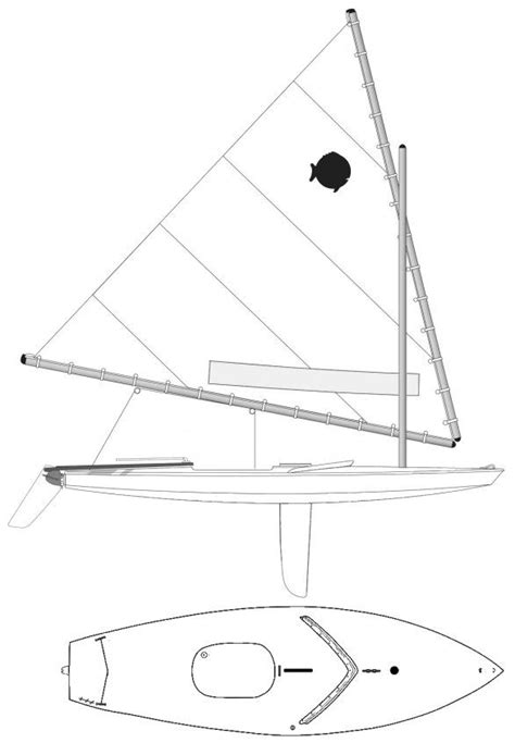 dinghy boat drawing drawing of a sunfish sailboat design pinterest