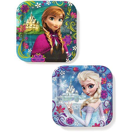 frozen  square plates  count party supplies walmartcom